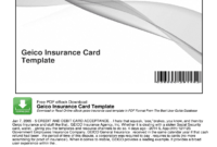 Geico Insurance Card Template Pdf – Fill Online, Printable for Auto Insurance Card Template Free Download