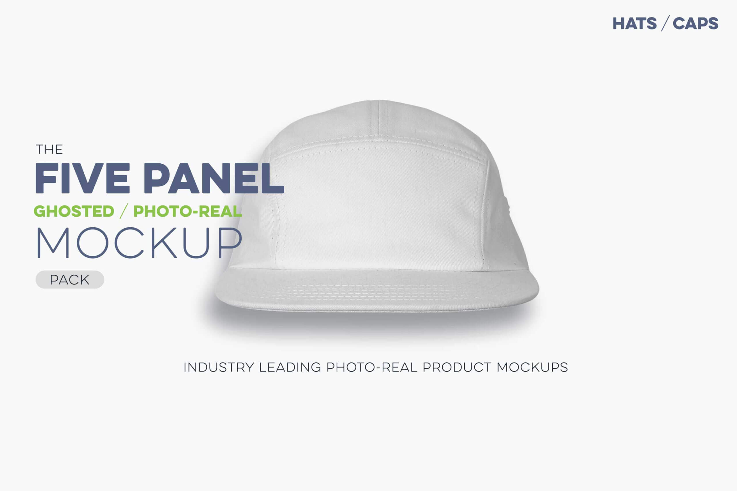 Ghosted Five Panel Cap Mockup - Threadosaurus Within 5 Panel Hat Template