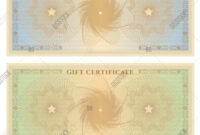 Gift Certificate ( Vector & Photo (Free Trial) | Bigstock for Bank Note Template
