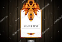 Gift Tag Ornamental Pattern Abstract Floral Stock Vector regarding Blank Luggage Tag Template