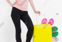 Girl Suitcase Isolated Image & Photo (Free Trial) | Bigstock inside Blank Suitcase Template