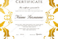 Gold Border Template | Certificate Template Gold Border pertaining to Award Certificate Border Template