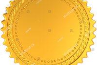 Golden Award Medal Blank Seal Luxury Stock Illustration 77350795 regarding Blank Seal Template