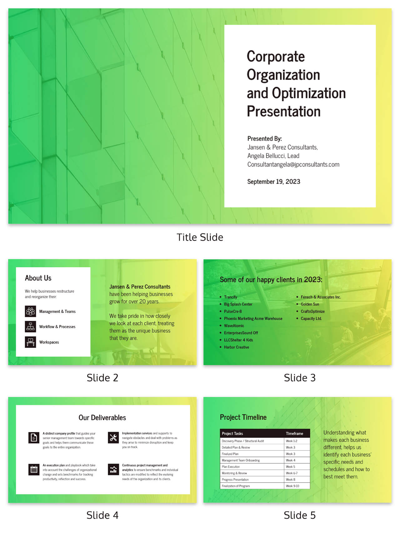 Gradient Business Consulting Presentation Template Inside Business Playbook Template