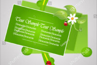 Green Bio Template Greeting Card Stock Vector (Royalty Free intended for Bio Card Template