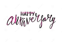 Happy Anniversary Text. Vector Word With Decor Stock Vector in Anniversary Card Template Word