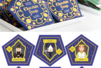 Harry Potter Chocolate Frogs – Free Printable Template For in Chocolate Frog Card Template