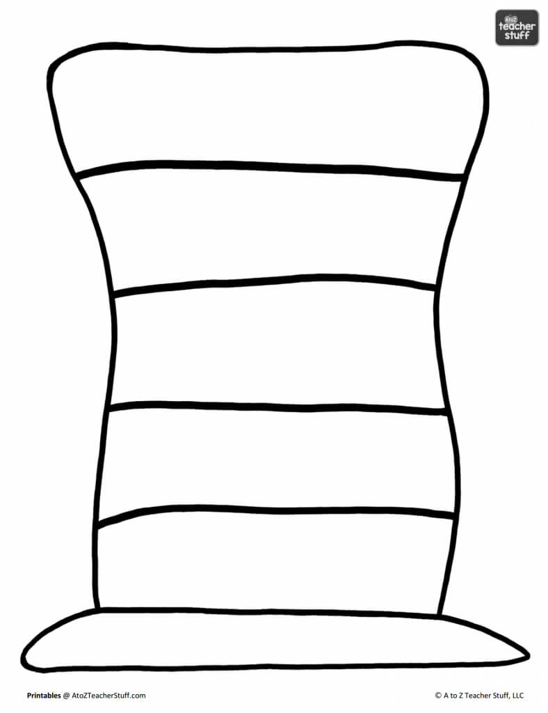 Hat Printables For Dr. Seuss, Cat In The Hat, Or Just Hats With Regard To Blank Cat In The Hat Template