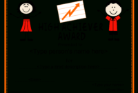 High School Achiver Award Certificate | Templates At in Certificate Templates For School