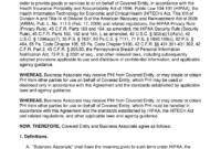 Hipaa Business Associate Agreement – Fill Online, Printable in Business Associate Agreement Hipaa Template