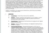 Hipaa Business Associate Agreement Form 2018 – Form : Resume with Business Associate Agreement Template