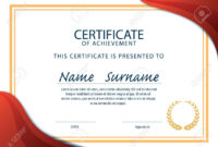 Horizontal Certificate Template,diploma,a4 Size ,vector with regard to Certificate Template Size