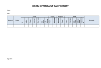 Hotel Room Attendant Daily Report | Templates At with regard to Check Out Report Template