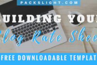 How To Build A Blog Social Media Rate Card (+Free Template with Advertising Rate Card Template