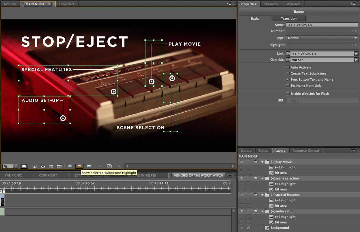 How To Create A Blu Ray Motion Menu In Adobe Encore - Neil Pertaining To Adobe Encore Menu Templates
