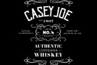 How To Create A Jack Daniels-Inspired Whiskey Label In Adobe throughout Adobe Illustrator Label Template