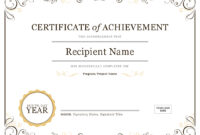 How To Create Awards Certificates – Awards Judging System intended for Best Employee Award Certificate Templates