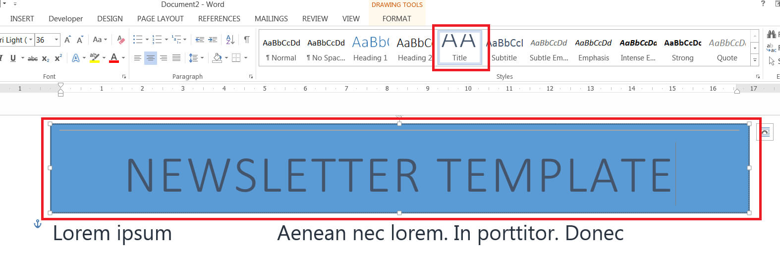 How To Easily Create A Newsletter Template In Microsoft Word Within Banner Template Word 2010