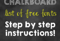 How To Make A Birthday Chalkboard Without Photoshop! – Our throughout Chalkboard Poster Template