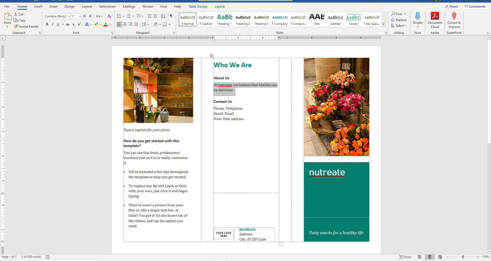 How To Make A Brochure On Microsoft Word Within Brochure Template On Microsoft Word