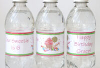How-To} Make Custom Water Bottle Labels – Glorious Treats for Birthday Water Bottle Labels Template Free