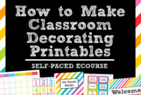 How To Make Teaching Printables And Classroom Decorating within Blank Word Wall Template Free