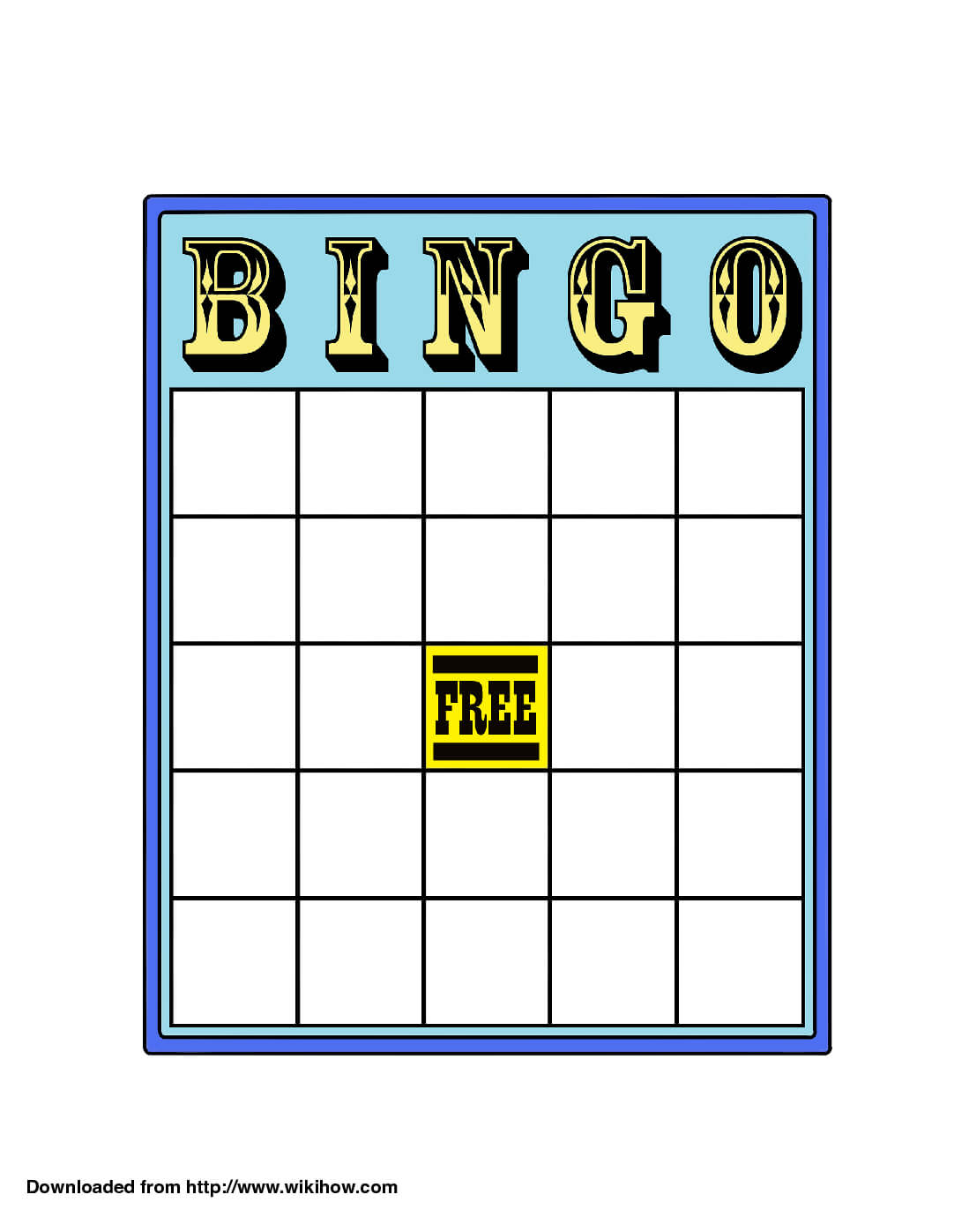 How To Play Bingo: 13 Steps (With Pictures) - Wikihow In Blank Bingo Card Template Microsoft Word
