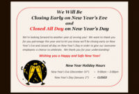 How To Post A Sign For The Observance Of A Holiday | Ehow with Business Closed Sign Template