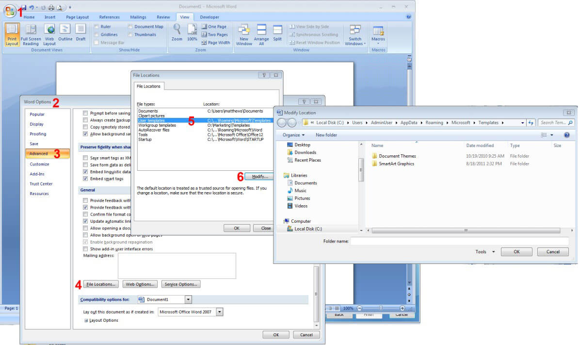 How To Reset Word 2007/2010/2013 Settings Without With Change The Normal Template In Word 2010