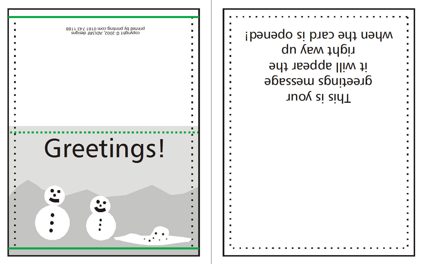 How To Supply Greeting/christmas Cards | Lishio With Regard To Birthday Card Indesign Template