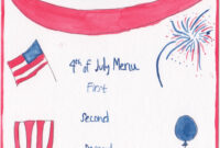 How To Throw A Fire-Cracking Fourth Of July Fête | Chefanie for 4Th Of July Menu Template