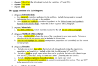 How To Write A Biology Lab Report inside Biology Lab Report Template