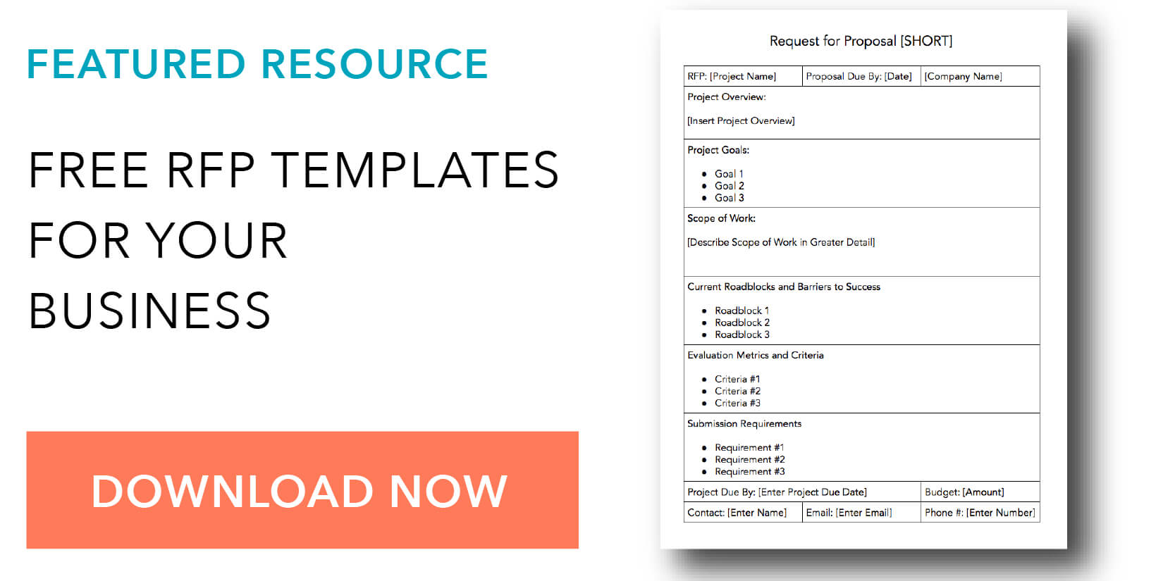 How To Write A Request For Proposal, With Template And Sample Pertaining To Call For Proposals Template