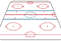 Ice Hockey Rink Diagram for Blank Hockey Practice Plan Template