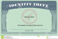 Identity Theft Card Stock Illustration. Illustration Of with Blank Social Security Card Template Download