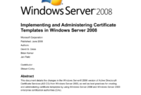 Implementing And Administering Certificate Templates inside Active Directory Certificate Templates