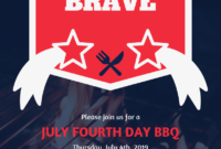 Independence Day Bbq Event Flyer Template pertaining to Bbq Fundraiser Flyer Template