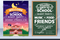 Invitation Back School Night Party Template Stock Vector with Back To School Party Flyer Template
