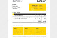 Invoice Form Design Template – Yellow And Black Color Stock for Black Invoice Template