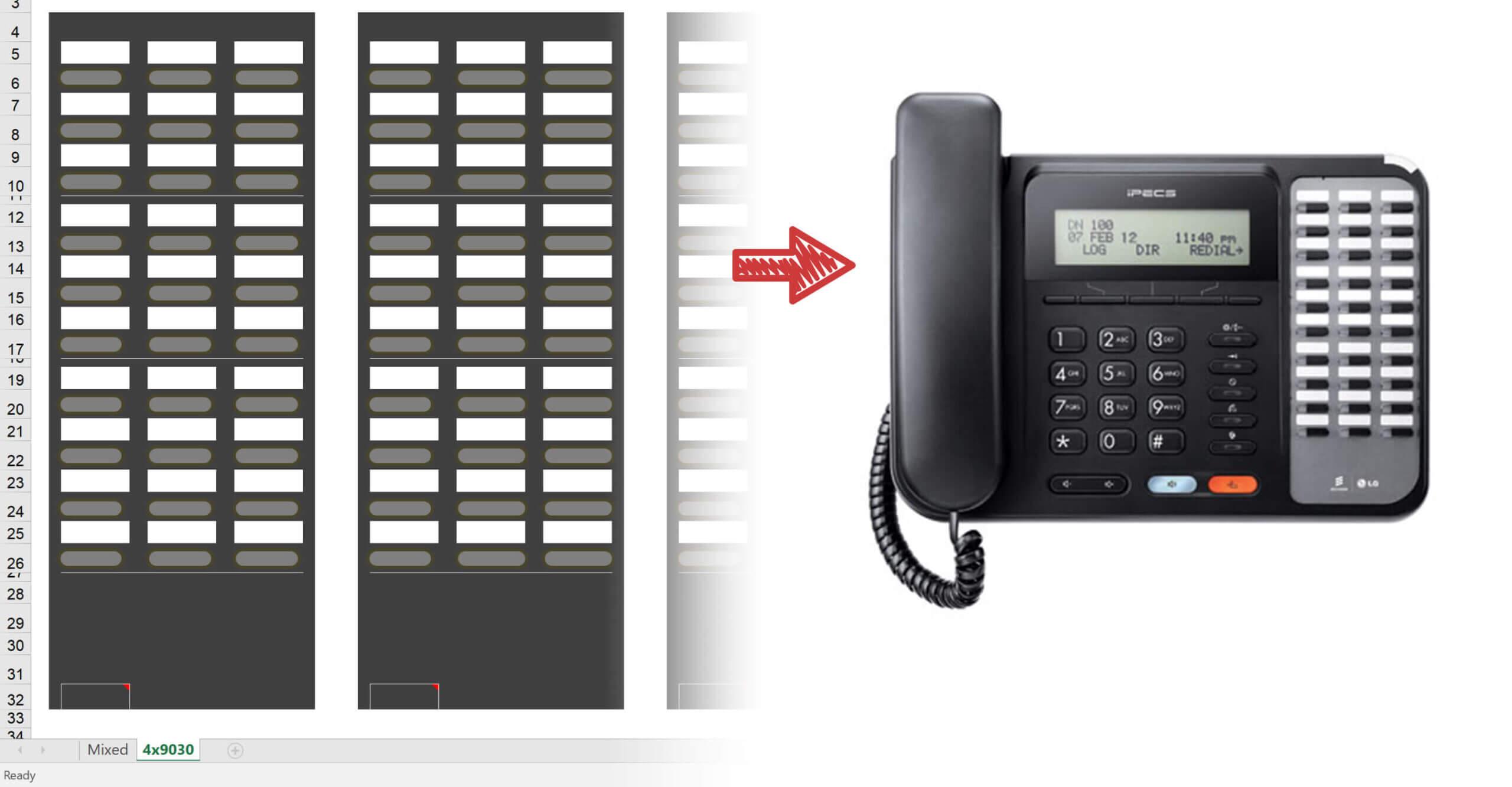 Ipecs Phone Handset Label Printing Guide - Infiniti For Avaya Phone Label Template