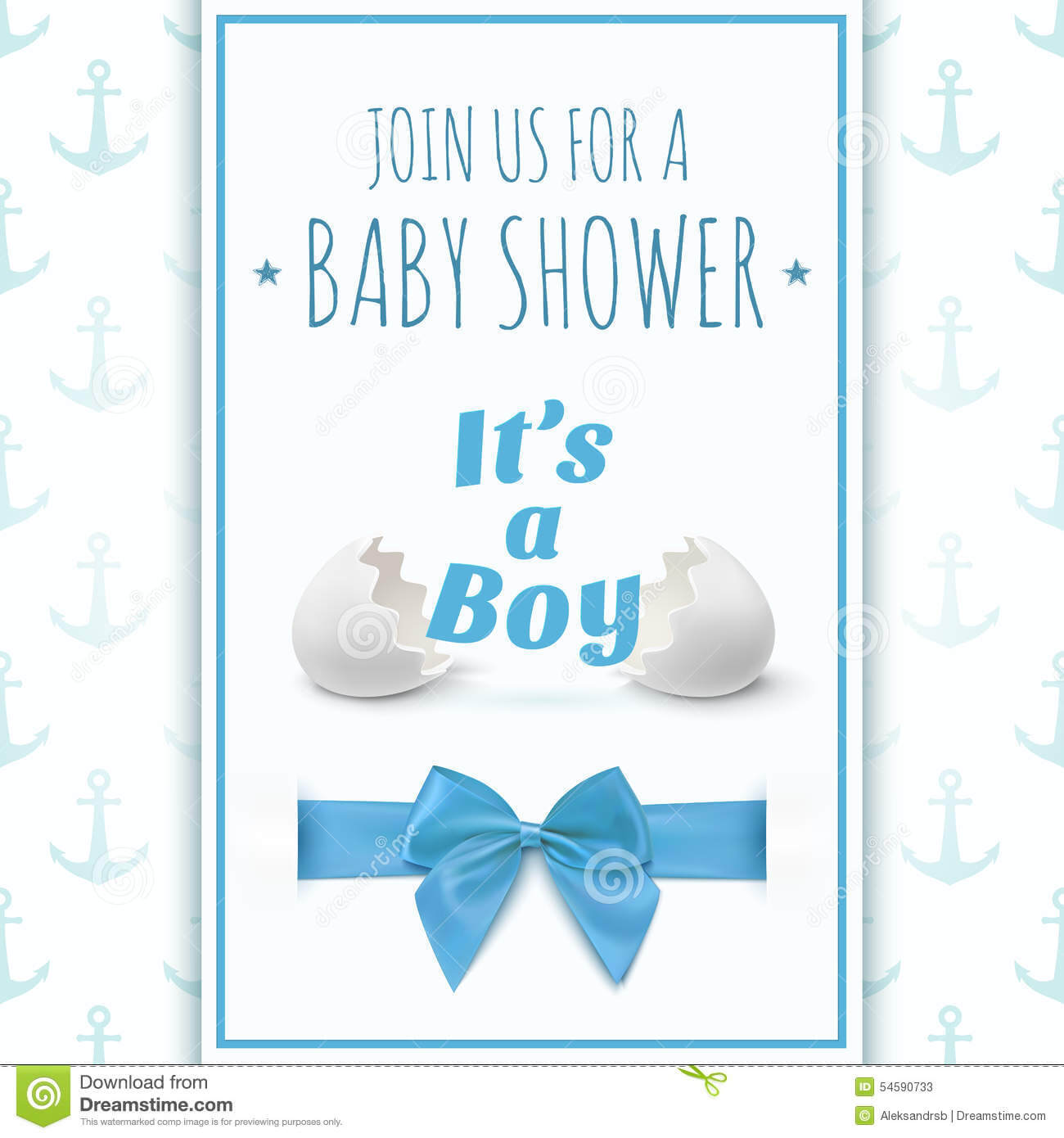 Its A Boy. Template For Baby Shower Celebration Stock Vector With Regard To Baby Shower Flyer Templates Free