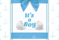 Its A Boy. Template For Baby Shower Stock Vector inside Baby Shower Flyer Templates Free