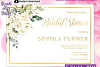 Ivory Roses Bridal Shower Invitation Template, (123) within Bridal Shower Invite Template
