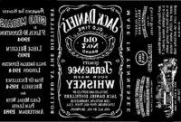 Jack Daniels Label Template inside Blank Jack Daniels Label Template