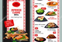 Japanese Cuisine Restaurant Menu Template Asian Stock Vector pertaining to Asian Restaurant Menu Template