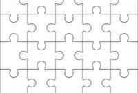 Jigsaw Puzzle Blank Template 4X5, Twenty Pieces Stock inside Blank Jigsaw Piece Template