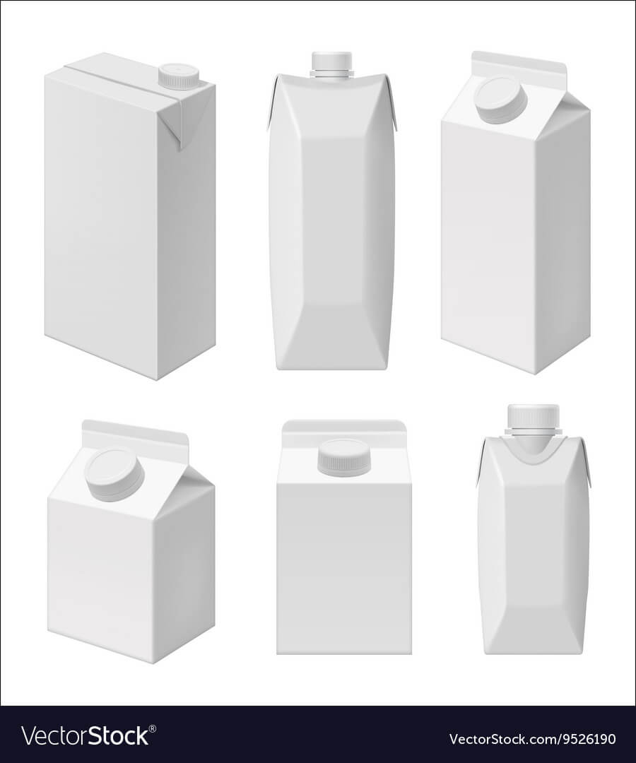 Juice And Milk Blank Packaging Template Regarding Blank Packaging Templates