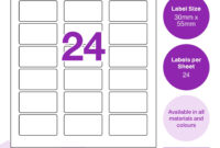 Ka4 30 X 55 R69 pertaining to 30 Labels Per Sheet Template