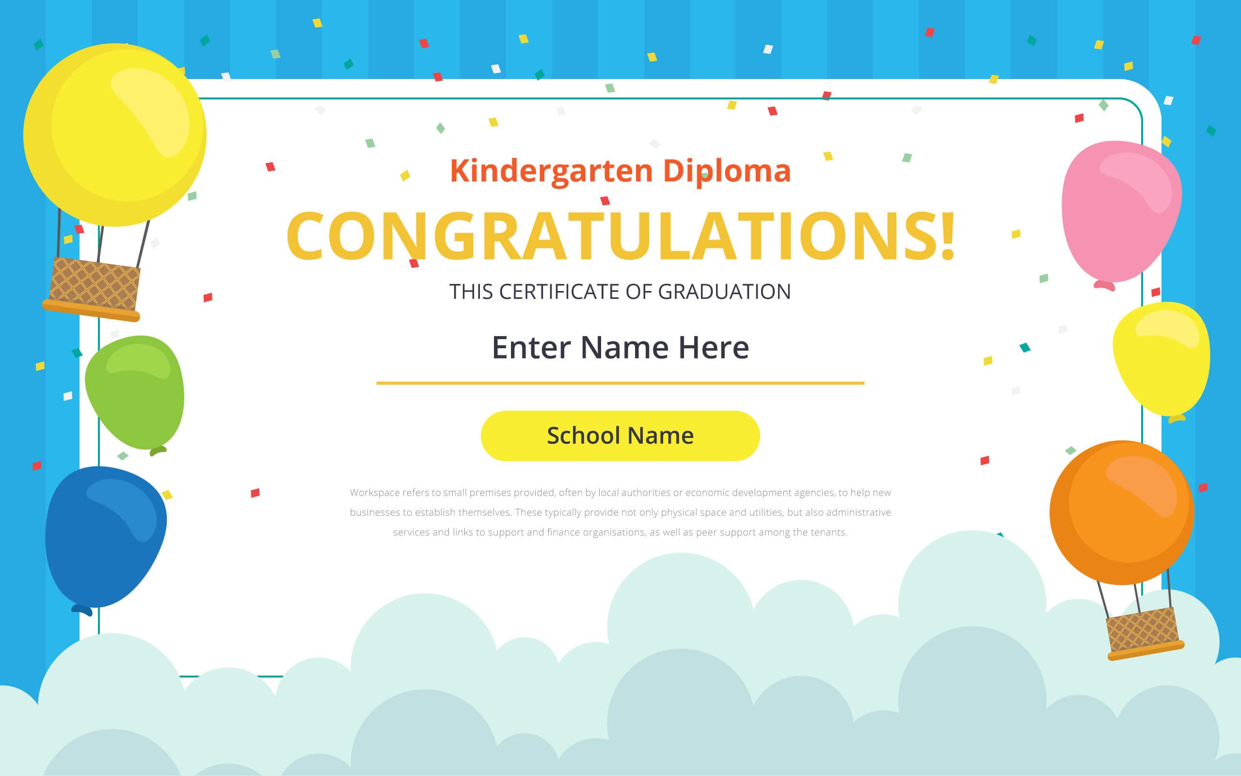 Kindergarten Certificate Free Vector Art – (21 Free Downloads) Throughout Certificate Templates For School
