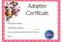 Kitten Adoption Certificate intended for Adoption Certificate Template